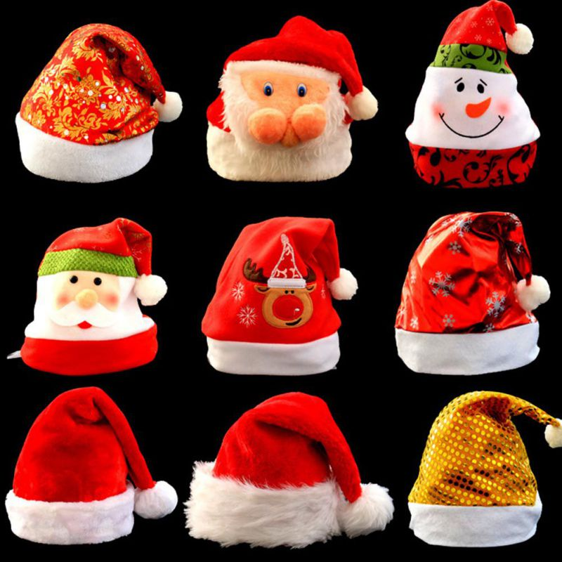 Unisex Christmas Hat XMAS Santa Family Party Gifts Decor For